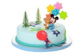 Baby Mickey - Fondant taart