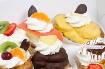 Vrijdag voordeel - Gesorteerd slagroom gebak 3 + 1 Gratis!
