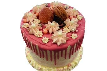 Drip taart aardbeien 15 personen